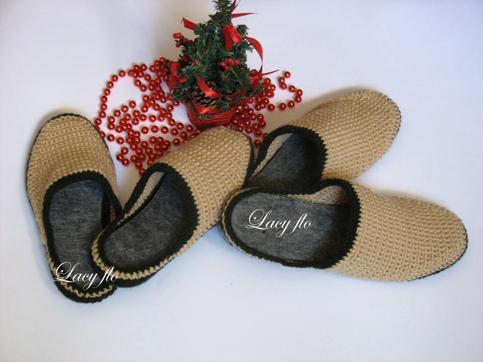 A set of slippers, a man women's shoes, warm wool slippers